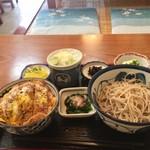 滝乃家 - カツ丼セット(850円)冷たいお蕎麦をチョイス