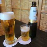 ヒカリヤ ヒガシ - 29年6月 生ビールとオールフリー