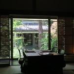 ヒカリヤ ヒガシ - 29年6月 和室から中庭を眺める