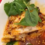 四川飯店 - 蒸し鶏の胡麻甘酢かけ