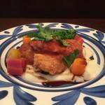 68413742 - 若鶏のピカタ トマトソース