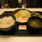 吉野家 - 【朝食】「ハムエッグ定食」です。
