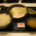吉野家 - 【朝食】「Wハムエッグ定食」です。