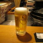 ジンギスカン 北えびす - 「生ビール(クラシック)」です。