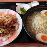 四季紅 - 料理写真:回鍋肉飯 塩ラーメン