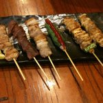 居酒屋金太郎 - 料理写真:焼鳥盛り合わせ580円