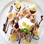 オリーブオイルとソフトクリームのお店 EVERYDAY OLIVE - チョコバナナワッフル・M