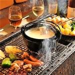リラクゼーションカフェシャンドゥルール - 料理写真:BBQでチーズフォンデュ