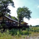 寒井観光余一やな - 那珂川の河原に建っています