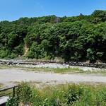 寒井観光余一やな - テラス席からの那珂川の眺め