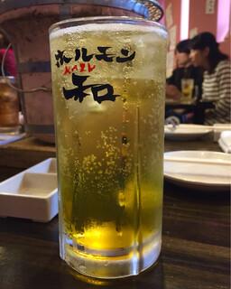 ホルモン和 - お一人3杯迄の輩ハイ600円