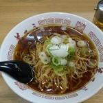 弟子屈ラーメン 札幌発寒店 - 朝ラー 素ラーメン(ネギのみ)