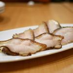 九眼橋 - 皮つき豚バラ肉の甘辛醤油漬け