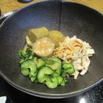 玄粋庵 KITSUNE - 「焼ナスと鶏肉の胡麻酢和え」