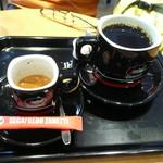 68431787 - エスプレッソとホットコーヒー