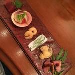 リストランテ ハナヅカ - 前菜盛り合わせ