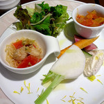 カルネ バル ビアンコ - 前菜のプレート