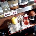 七志 とんこつ編 - 卓上調味料