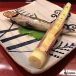 小じま - 根曲がり筍にメヒカリ焼