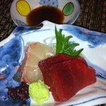 温石 - 二段弁当 お刺身