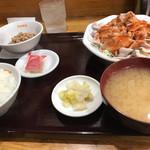 大吉飯店 - ゆで豚定食(ご飯小)550円♪