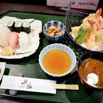 食事処水仙 - にぎり天ぷら定食