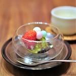 のりこのごはん - 抹茶黒蜜アイス、 香川県のおいり