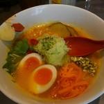 68446072 - 特製ベジソバ1100円・玄米麺に変更150円