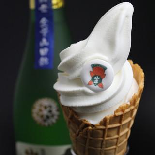 超贅沢酒ソフト!☆山車大吟醸酒ソフトクリーム☆