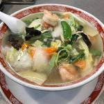 中国麺家万天 - シャキシャキ野菜とプリプリ海老のハーモニー【えびそば】
