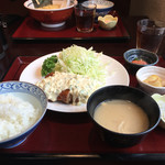 ひこち - 料理写真:日替わり定食 チキン南蛮 750円