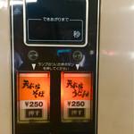 68451897 - 天ぷらうどんと天ぷらそば二者択一250円