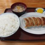 ドサン子ラーメン - 味噌餃子定食 590円