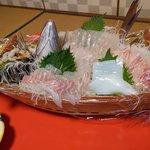 なか川 - 船盛 鯛&イカ&サザエ