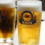 皿屋 福柳 - 生ビール(キリン一番搾り)