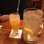 やきとり 戎 - クエン酸メガハイボールとグレープフルーツジュース