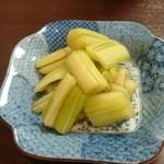 乃池 - セロリの醤油煮