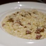 68456504 - 自家製サルシッチャとパルミジャーノのリゾット 黒胡椒風味