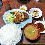 かねこ - 激辛とんかつ定食(大盛り)