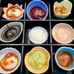 三彩館ふじせい - 料理写真:8種味の餅と大根