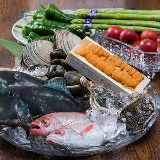 《国産》新鮮な食材を使った季節の料理