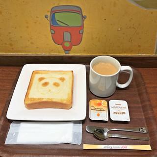 シターラ・ダイナー エキュート上野店 - パンダトーストセット(モーニングメニュー)