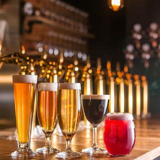 クラフトビール&ワインの鮮度が自慢!常時10種類ご用意◎