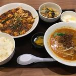 担担 - マーボー豆腐定食+坦々麺(980円)