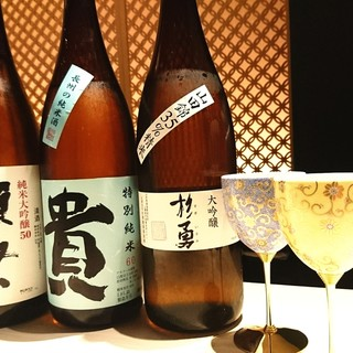 料理に合う日本酒とお洒落なグラス