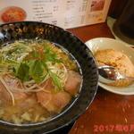 中村商店 - 金の塩ラーメンとセットチャーハン \1100(税込)