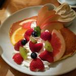 68471201 - 珠玉の贅果パンケーキ~リッチミルクソフトクリーム添え~