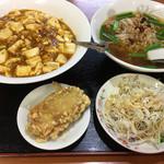 台湾料理 龍勝 - 定食セット 麻婆豆腐飯+台湾らーめん(850円)