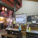 鶴が亭 - 屋台のテーブル席(2017年5月)