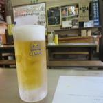 鶴が亭 - ビールはサッポロクラッシック 500円(2017年5月)